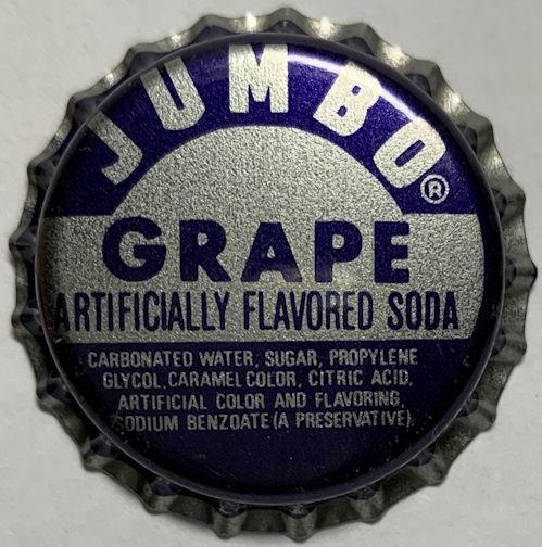 #BC228 - Group of 10 Jumbo Grape Plastic Lined Soda Bottle Caps