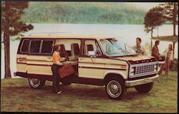 #CA509 - 1979 Econoline Captain's Club Wagon Advertising Postcard