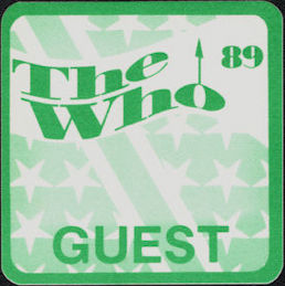 ##MUSICBP0200 - The Who OTTO Cloth Guest Backstage Pass from the 1989 The Kids are Alright Tour