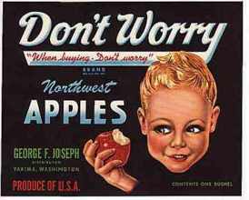#ZLC018 - Don't Worry Apple Crate Label