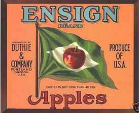 #ZLC016 - Ensign Apples Crate Label - Orange