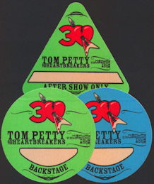##MUSICBP0247 - Trio of Cloth OTTO Backstage Passes from the Tom Petty and the Heartbreakers 2006 Highway Companion Tour