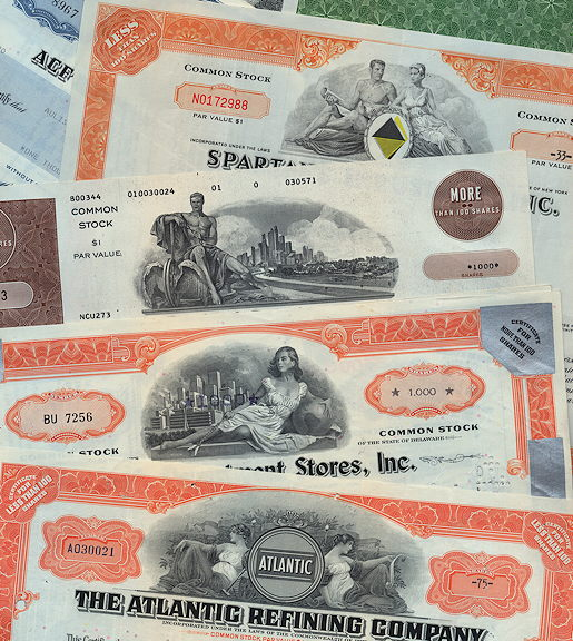 #ZZCE077.1 - Group of 20 Different Stock Certificates