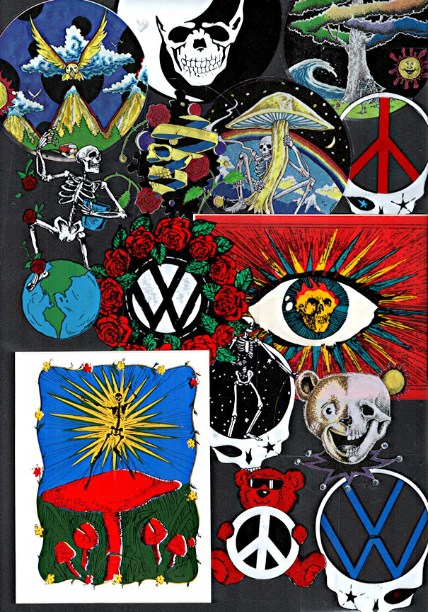 ##MUSICBP2200 - Group of 20 Different Grateful Dead Sticker/Decals