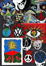 ##MUSICBP2200 - Group of 20 Different Grateful Dead Sticker/Decals
