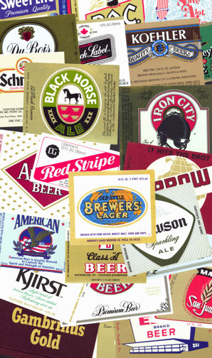 #ZLBE067 - Group of 20 Different Beer Bottle Labels