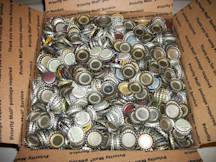 #BC141 - 3,000 Assorted Plastic Lined Bottle Caps for Crafts - Bulk