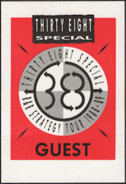 ##MUSICBP0859 - 38 Special Cloth Guest Backstage Pass from the 1988/89 R & R Strategy Tour