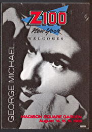 ##MUSICBP0107 - George Michael OTTO Cloth Backstage Pass from the Meadowlands on August 21,1988 - Faith Tour
