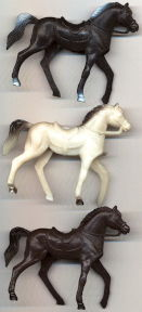 #TY715 - Group of 3 Different Colored Large Toy Horses