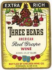 #ZLW011 - Three Bears Wine Label