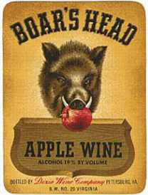 #ZLW012 - Boar's Head Wine Label