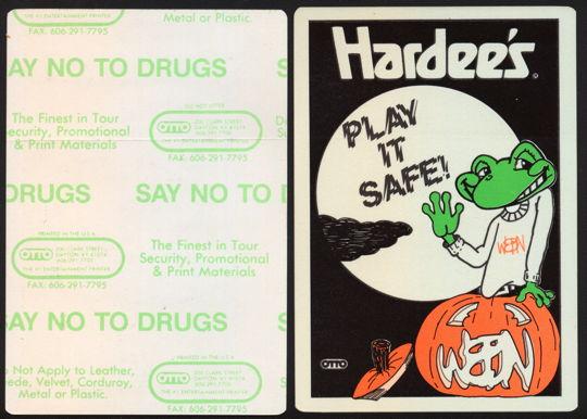 #HH180 - Group of 4 Hardee's & WEBN Radio Station Glow in the Dark Halloween Stickers