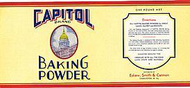 #ZLCA019 - Capitol Baking Powder Label
