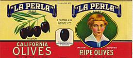 #ZLCA024 - La Perla California Olives Can Label