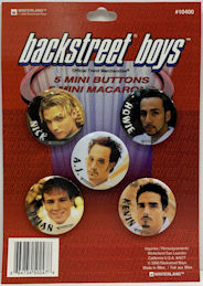 ##MUSICBG0125 - Display Card of 5 Licensed Backstreet Boys Mini Buttons