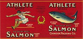 #ZLCA028 - Athlete Salmon Can Label