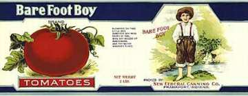 #ZLCA029 - Barefoot Boy Tomatoes Can Label