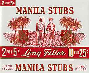 #ZLSC004 - Manila Stubs Cigar Box Label