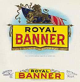 #ZLSC007 - Royal Banner Cigar Box Label