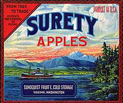 #ZLC020 - Surety Apple Crate Label - A Beauty