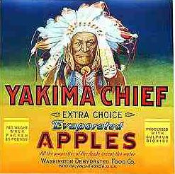 #ZLC029 - Yakima Chief Apple Crate Label