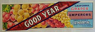 #ZLSG008 - Good Year Grape Crate Label
