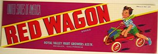 #ZLSG006 - Red Wagon Grape Crate Label