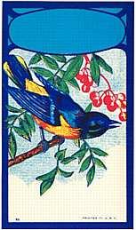 #ZLB008 - Bluebird Broom Label