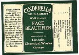 #ZBOT044 - Early Cinderella Face Beautifier Label
