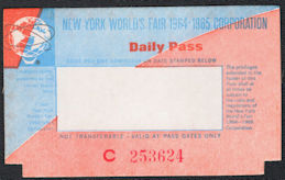 #MS105 - Group of 12 Unused 1964-65 New York World's Fair Ticket