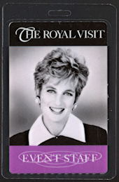 #PL321 - Rare Laminated Passes from the Princess Diana Visit to Chicago in 1996 - As low as $4.50 each