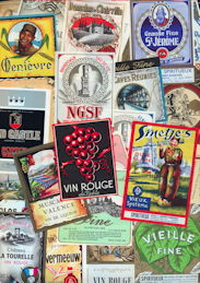 #ZLW251 - Group of 75 All Different European Liquor Labels
