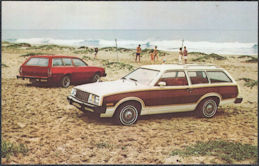 #CA522 - Group of 4 1979 Mercury Bobcat Wagon and Villager Wagon Advertising Postcards