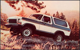 #CA514 - 1979 Ford Bronco Custom Advertising Postcard
