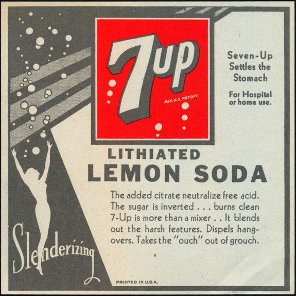 #ZLS224 - Large 7up Lithiated Lemon Soda Bottle Label
