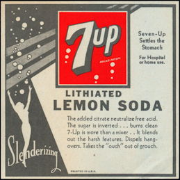 #ZLS224 - Large 7up Lithiated Lemon Soda Bottle Label