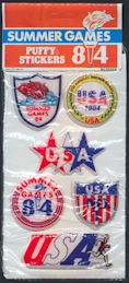 #MS292 - Package of 6 Olympic Puffy Stickers for the 1984 Games