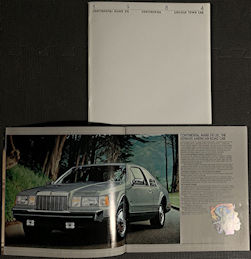 #CA143 - Large High Quality Illustrated Lincoln Continental Mark VII Dealer Booklet