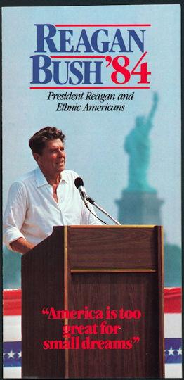 #PL333 - 1984 Reagan Bush Campaign Brochure