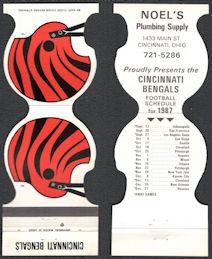 #BA137 - Cincinnati Bengals Matchpack with 1987 Season Schedule Inside