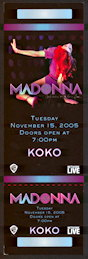 ##MUSICBP0104 - 2005 Madonna KOKO club AOL Ticket - real gem for collectors - As low as $5 Each