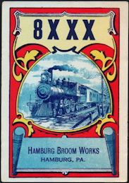 #ZLB049 - Hamburg Broom Works Broom Label - Train