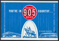 #ZLBE095 - 905 Beer Bottle Label - Evansville, Indiana