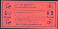 #ZZZ098 - Group of 12 K-9 Dog Food Coupon Postcards