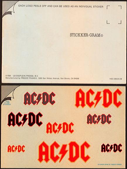 ##MUSICBG0112 - Licensed AC/DC Stickker-Gram