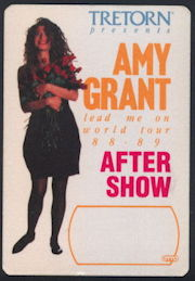 ##MUSICBP0283 - Amy Grant OTTO Cloth Backstage Pass from the 1988/89 Lead Me On World Tour