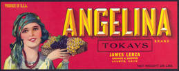 #ZLSG049 - Angelina Grape Label