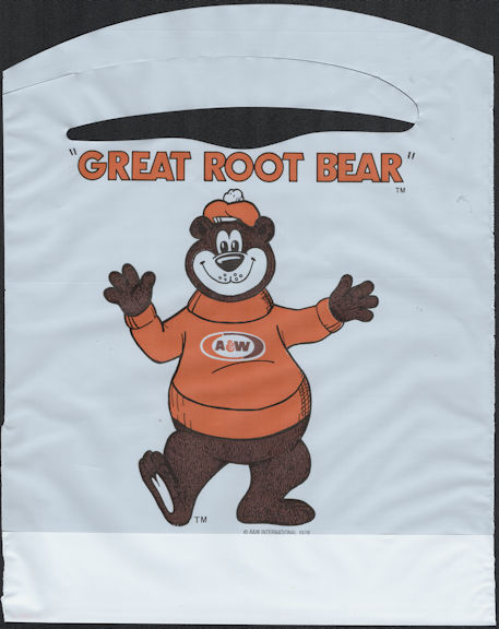 """#SOZ105 - Group of 12 The """"Great Root Bear"""" A & W Root Beer Mascot Advertising Bibs"""