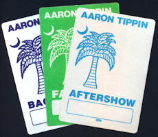 ##MUSICBP0117 - Aaron Tipin OTTO Cloth Backstage Pass from the 1991/1992 Tour - As low as 60¢ each